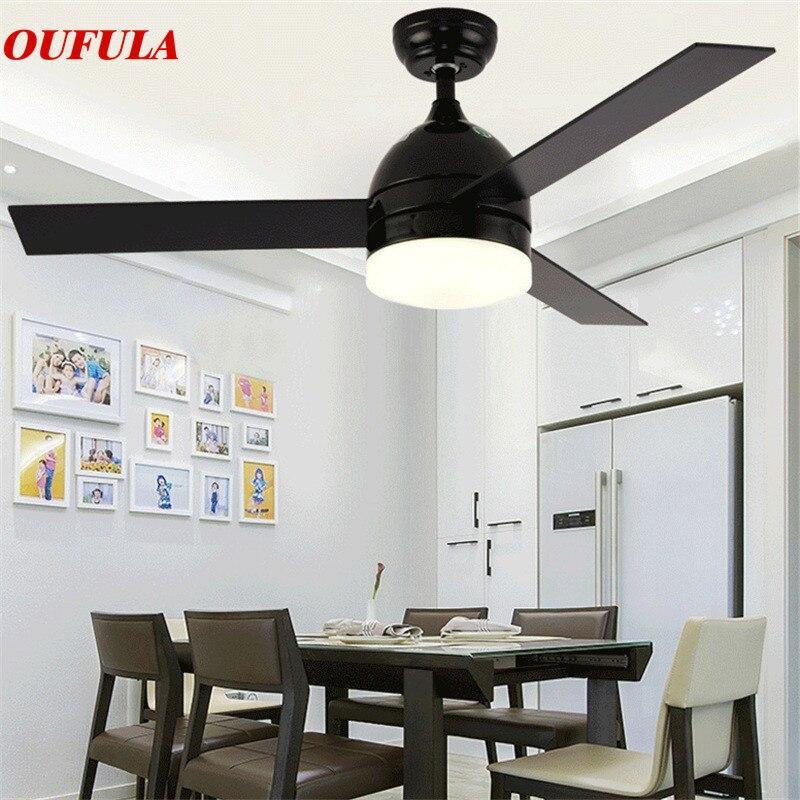 Modern tavan vantilatörü Işıkları Lambaları Çağdaş Vantilatör Uzaktan Kumanda Fan Aydınlatma Yemek odası Yatak Odası Restoran Fashional