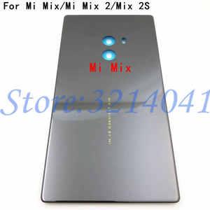 Image 1 - الأصلي جديد السيراميك بطارية الباب الغطاء الخلفي الإسكان حافظة لهاتف شاومي Mi Mix Mi MIX 2 MI Mix 2S بدون عدسة الكاميرا + لاصق