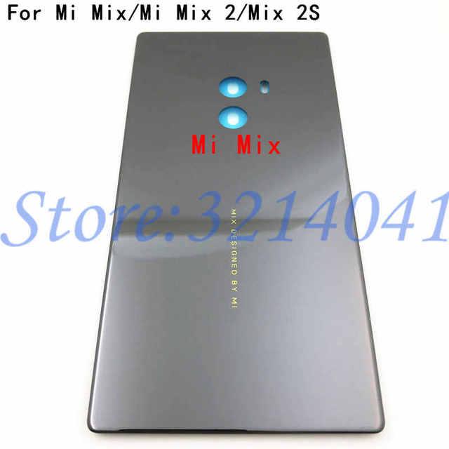 الأصلي جديد السيراميك بطارية الباب الغطاء الخلفي الإسكان حافظة لهاتف شاومي Mi Mix Mi MIX 2 MI Mix 2S بدون عدسة الكاميرا + لاصق
