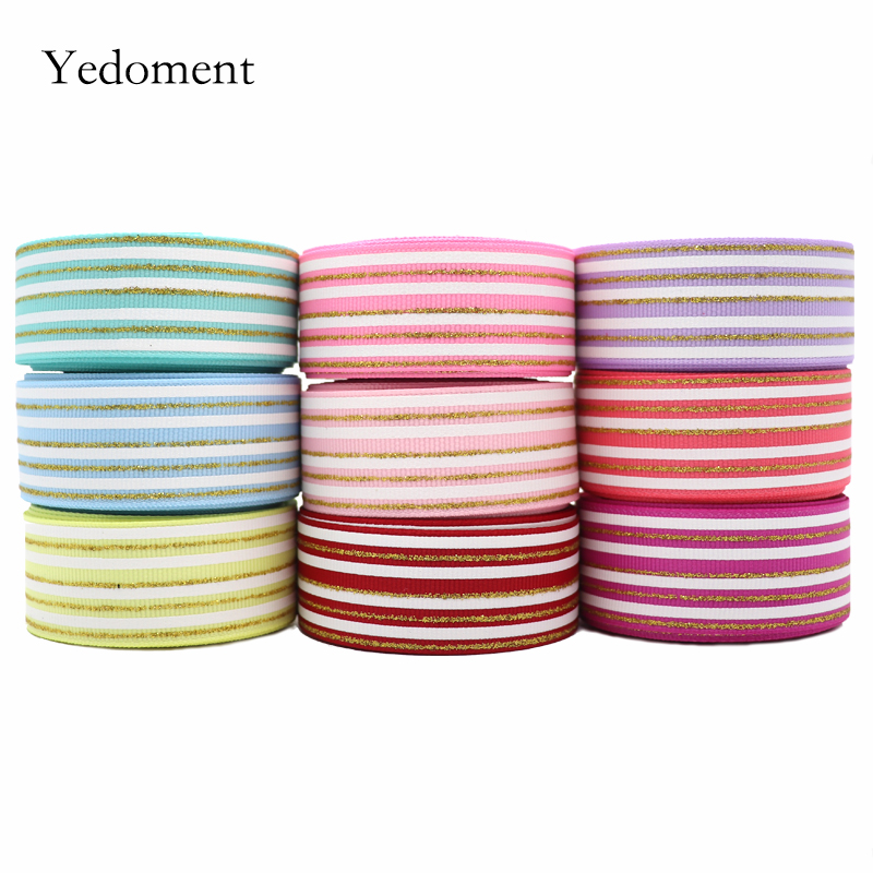 Ribbon Rainbow 1Meter//lot Printed Headwear Hair Bow Single Face Party Decoration