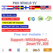 GOTiT 10K + suscripción mundial Pro Israel HD Jewish TV para Android Smart TV nórdico escandinavo hebreo España holandés Francia M3U(China)