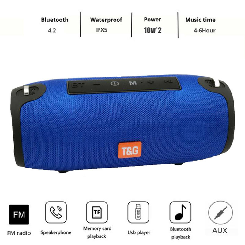 20W Bluetooth Speaker Portable Column Speaker Bluetooth Soundbar Music Player Boom Box with FM Radio AUX For Computer Subwoofer