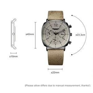 Image 3 - גברים רצועת עור שוויצרי קוורץ שעון גברים של לוח שנה זוהר עמיד למים שעוני יד איש גדול סגנון ספורט יד שעונים מתנת שעון