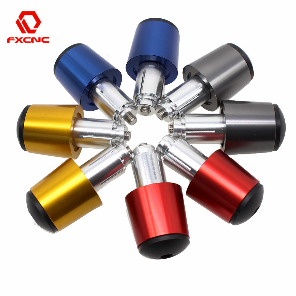 22mm CNC Aluminum Motorcycles Fists Handlebar Steering Counter Weight Hand Grips Bar End Universal Moto Parts Red Blue Gray Gold