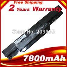 7800mAh סוללה למחשב נייד עבור ASUS K53 K53E X54C X53S X53 K53S X53E A32 k53 A42 k53 K43jc K43jm K43js K43jy K43s k43sc