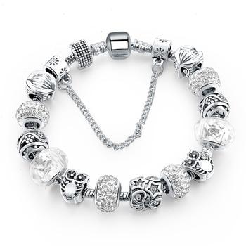 Yada estoque ins moda de alta qualidade coruja pulseiras & pulseiras para as mulheres coração diy pulseiras charme cristal jóias pulseira bt200264