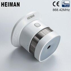 HEIMAN Zwave Detector de humo Alarma de incendio Z-wave Sensor inalámbrico de alta sensibilidad para 868 MHz Seguridad para el hogar inteligente Envío gratis