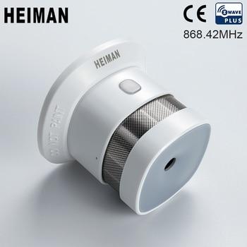 HEIMAN Zwave Smoke detector Fire alarm Z-wave Wireless High sensitivity sensor for 868MHz Smart home security Free Shipping
