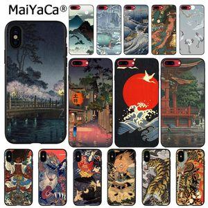 MaiYaCa Ukiyo-e al japonés estilo arte teléfono caso para iphone 11 Pro 11Pro Max 8 7 6 6S Plus 5 5S SE XR X XS X MAX