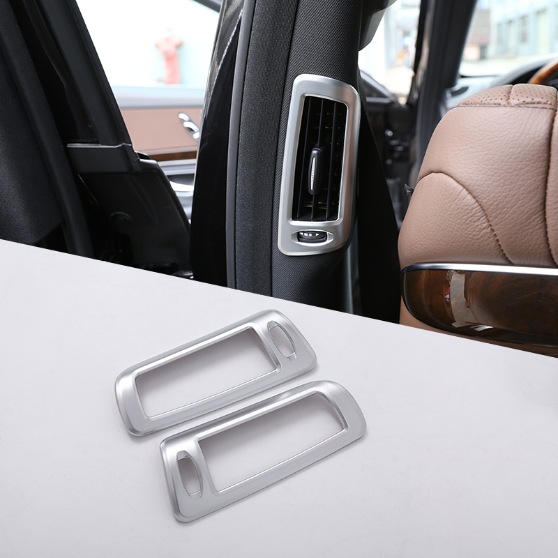 2pcs For Mercedes Benz W222 S-Class S300 S320 S350 S400 Car Accessories ABS Chrome B Pillar Air Conditining Outlet Frame Trim image