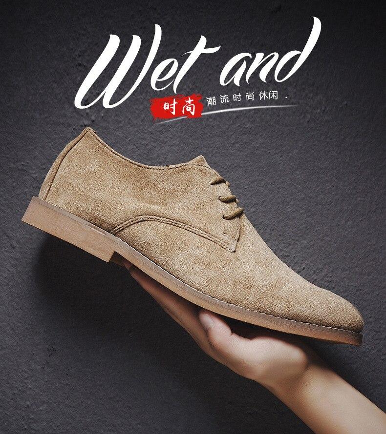 H067d95de7d3145e795d3b20f933a147f7 Merkmak Fashion England Trend Casual Shoes Men Flock Oxford Wedding Leather Dress Men Flats Waterproof Men Shoes Plus Siz