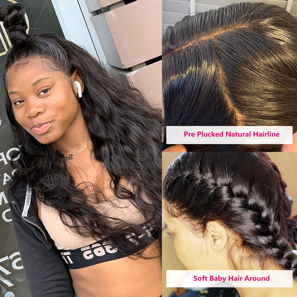 Full Lace Human Hair Wigs For Black Women Brazilian Body Wave Wigs Beaudiva Remy Hair Preplucked Bleached Knots Lace Wig Braided