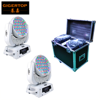 Freeshipping Flightcase + 2PCS 108 x 3W Led Moving Head Light RGBW stage Light 360W White Housing DMX 12 CH Road Case,Rack Case