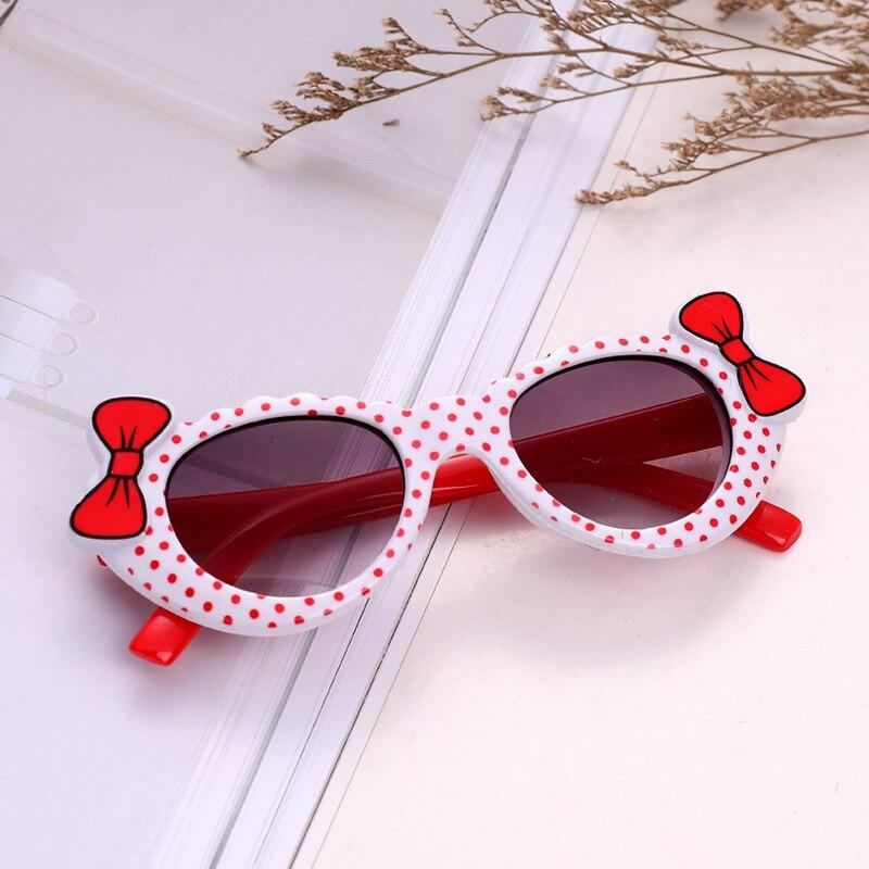 1 шт., детские солнцезащитные очки в горошек с бантом