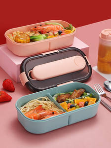 Lunch-Box Tableware Compartment Food-Container-Box Microwave Plastic Japanese Kids Leak-Proof