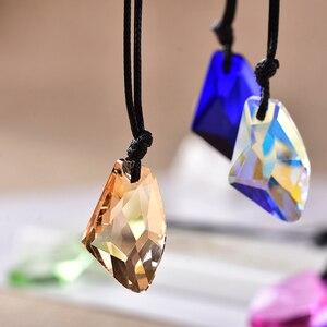 Image 2 - Toptan moda düzensizlik kristal kolye ekleyebilirsiniz Charm kadınlar takı aşk bellek düğün kolye sevgililer günü hediyesi