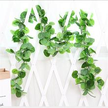 Artificial Fake Hanging Vine Plant Leaves  Garland Home Garden Wall Decoration Green Perfect Present flower vine rattan hanging plant artificial plant leaves wall accessories balcony decorattion home decoration
