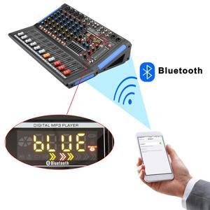 Image 2 - LOMOEHO AM 08 4 MONO + 2 สเตอริโอ 8 ช่องBluetooth USBอินเทอร์เฟซคอมพิวเตอร์บันทึก 48V Phantom Professional DJ Mixer