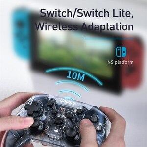 Image 4 - Baseus Gamepad Gamepad para Nintendo interruptor Bluetooth 6 Axis Vibrador Motion Sensor Joypad Controlador para Lite PC Chave