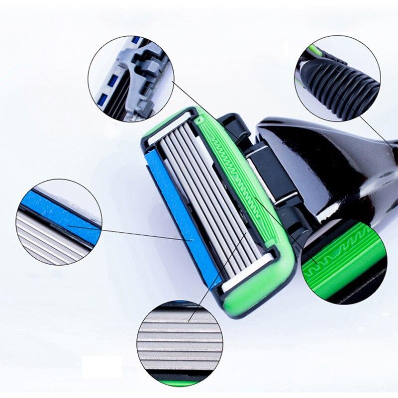 Купить с кэшбэком Korea Original Genuine Dorco Pace 6 Men Manual Safety Razor 6-Layer Blade Beard shaving Stainless Steel Safety Razor Blades