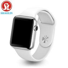 男性女性スマートウォッチ スマート腕時計 Bluetooth (赤ボタン)
