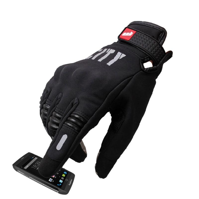 Зимние мотоциклетные перчатки с закрытыми пальцами, водонепроницаемые перчатки для мужчин, теплые мотоциклетные перчатки, перчатки для се...