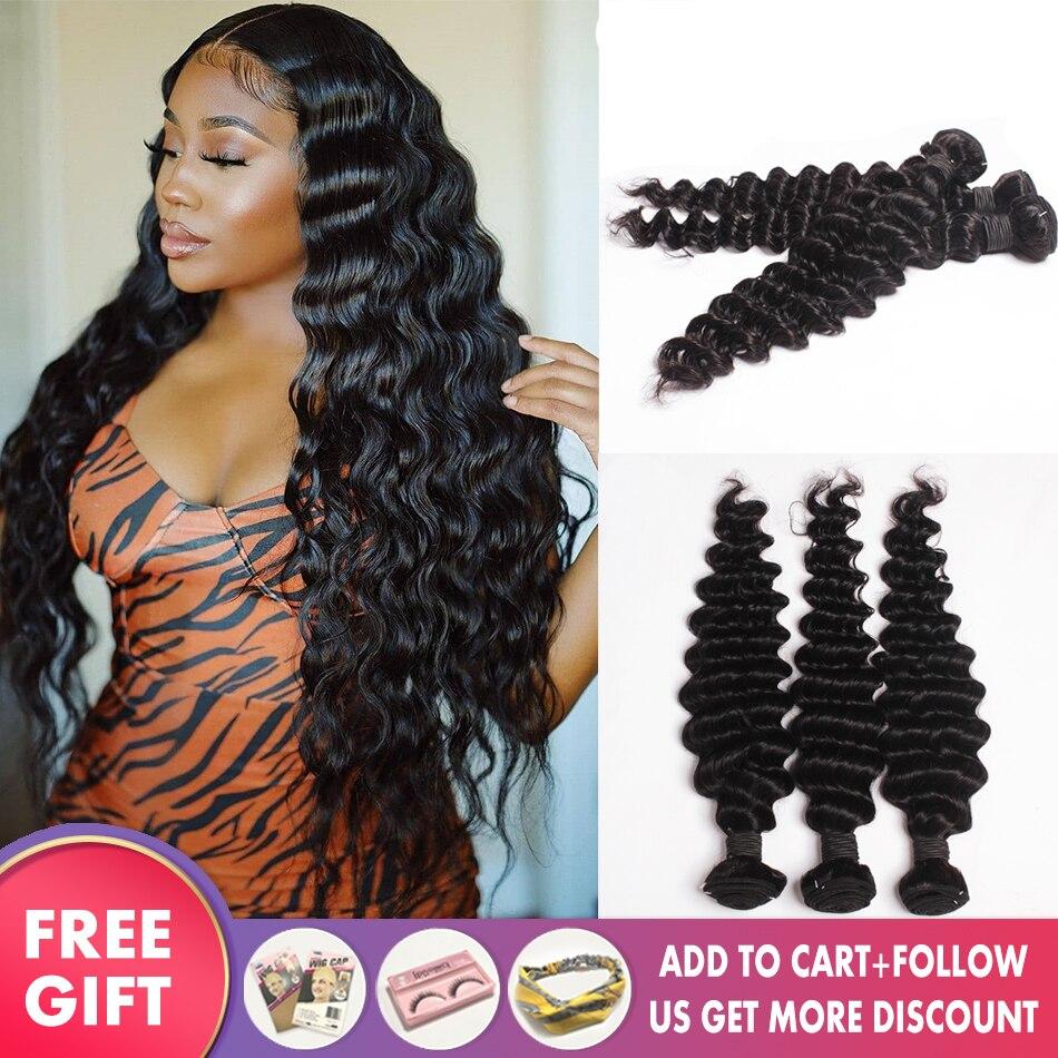 Extensiones de Cabello brasileño de ondas profundas, oferta de extensiones de cabello humano 100%, 1, 3, 4 paquetes disponibles, 8-30 '', pelo de Culry, paquetes proveedores