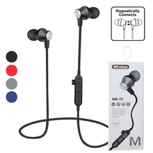 Sport Stereo Wireless Headset In-ear Magnetic Suction  Bluetooth Earphones With MiC TF Card Function For Running Mobile Phone tf fpj fansproject function x8 crox in stock