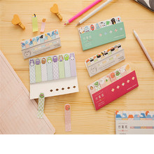 2pack/lot cute variety of optional Cartoon style notes memo sticky mini note pads Students stationery