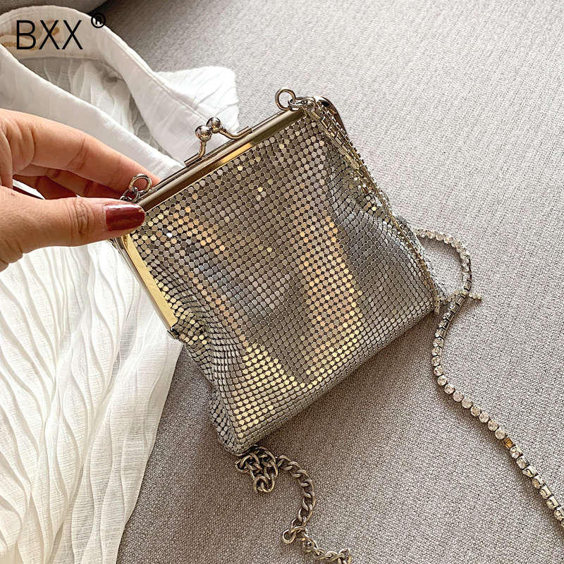 [BXX] Chain Crossbody Bags For Women 2020 Spring Luxury All-match Quality Shoulder Messenger Bag Female Handbags Purses HK542