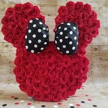 25pcs 8cm PE Foam Rose Flower Wedding Decoration Valentines Day Bouquet Packaging DIY Materials Ddecoration