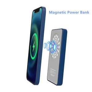 Image 1 - 15W dla iPhone 12 Mini Max Magsafe Qi bezprzewodowa ładowarka 5000mAh Power Bank dla iPhone 12 11 Pro wspornik zapasowy przenośny Powerbank