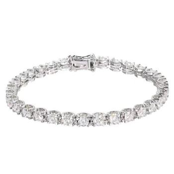 Fine Jewelry Real 14K Gold AU750 G14K 100% Natural White Sapphire Gemstones 10.25ct Bracelets