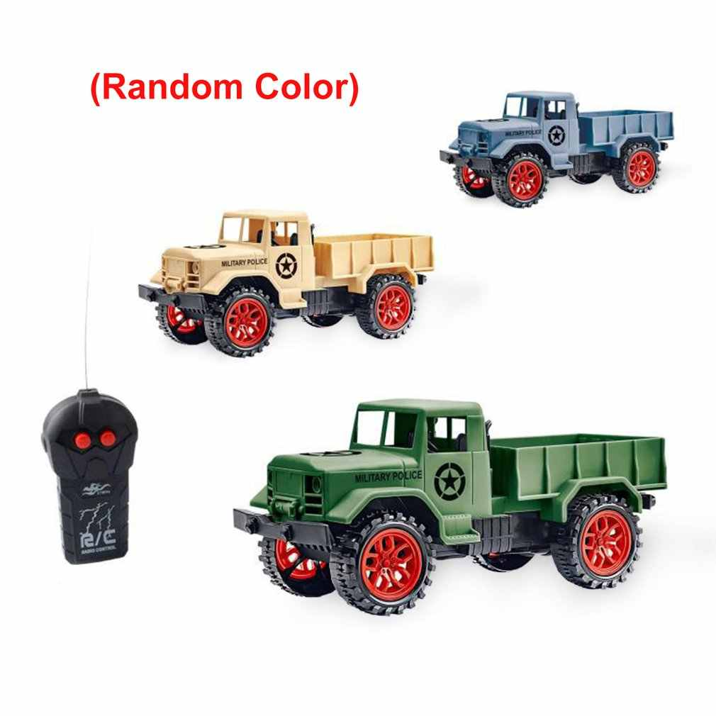 1: 24 2 Channels RC Car Military Truck Remote Control Crawler Kids Vehicle Toys for Children Birthday Gift