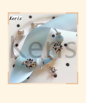 High Quality 1:1 100% Silver Star Moon Bead Rat Pendant String Bracelet Free Delivery