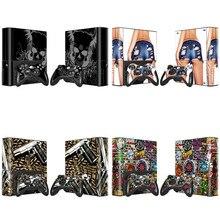 Adesivo de pele de vinil de novo design para xbox 360 e console + 2 pcs controladores de pele adesivo