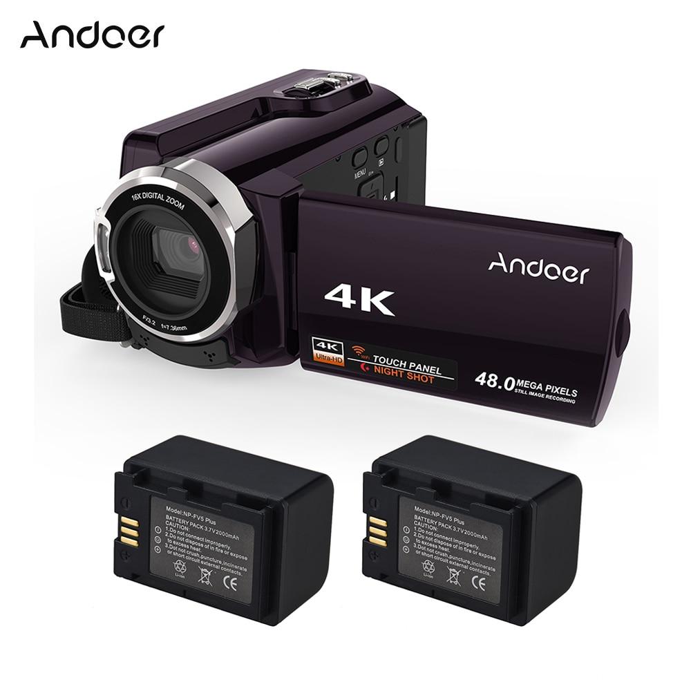 "Andoer HDV 534K 4 18K 48MP WiFi デジタルビデオカメラ 1080 1080p フル HD 3 ""タッチスクリーン赤外線ナイトサイトサポート 16X ズーム検出  グループ上の 家電製品 からの 家庭用ビデオカメラ の中 1"