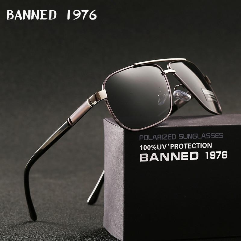 Мужские солнцезащитные очки с поляризацией, зеркальные алюминиевые очки квадратной формы, аксессуары для мужчин и женщин, 2020