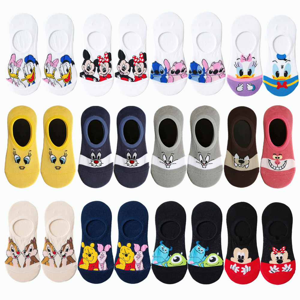 2019 Summer Casual Women Socks Korea Animal Cartoon Duck Mouse Bear Ankle Socks Cute Invisible Silicone Slip Boat Sock Girl Gift