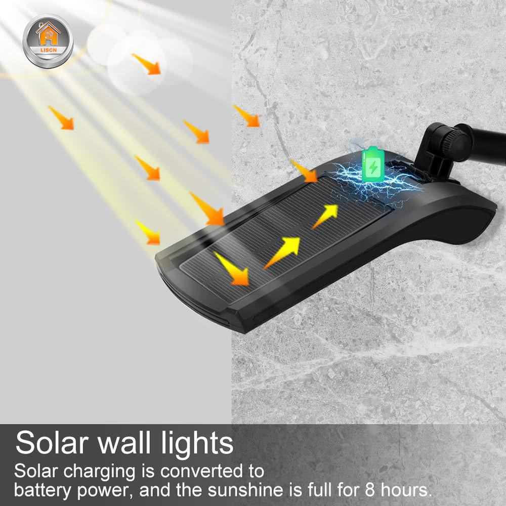 Outdoor Solar Wall Light with 180 Degree Rotating Struts in 3 Sensor modes for Stair and Garden Pathway 4