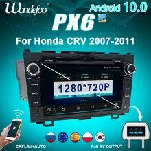רכב רדיו 2 דין אנדרואיד 10 עם מסך PX6 עבור הונדה CR V CRV 2007 2011 אוטומטי אודיו מערכת אינטליגנטי מולטימדיה וידאו שחקנים