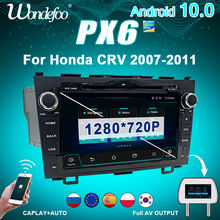 Car radio 2 din android 10 with screen PX6 For HONDA CR V CRV 2007 2011 auto audio intelligent system Multimedia video players