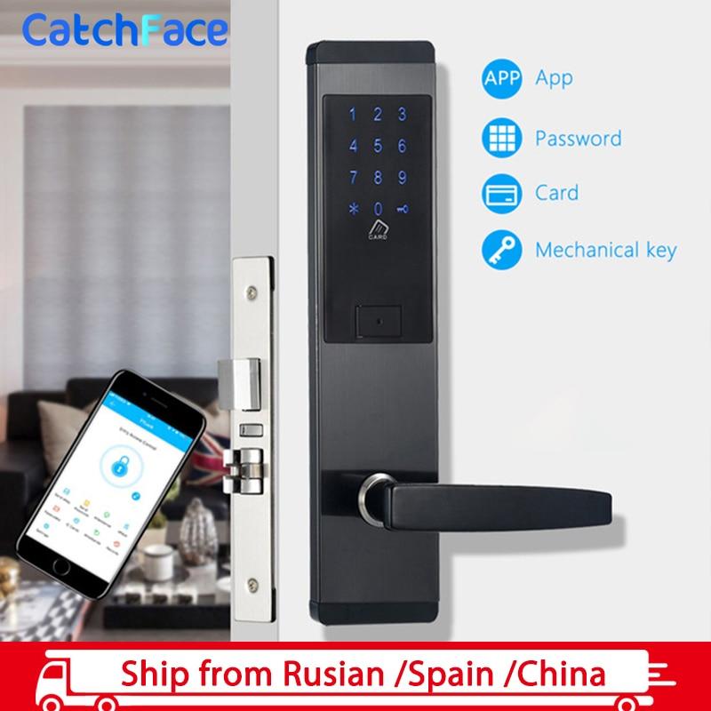 Wifi App Electronic Door Lock Digital Smart Touch Screen Keypad Password Lock Door For Home Office hotel