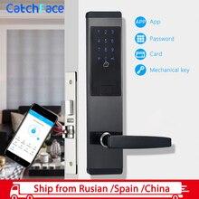 Wifi App elektroniczny zamek do drzwi cyfrowy inteligentny ekran dotykowy klawiatura blokada hasła drzwi do Home Office hotel