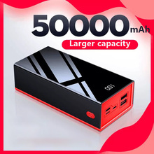 3 IN 1 Portable Power Bank 50000mAh Lighting Type-C Micro USB 2.1A Fast Charging LED Display USB Powerbank For Xiaomi Power Bank