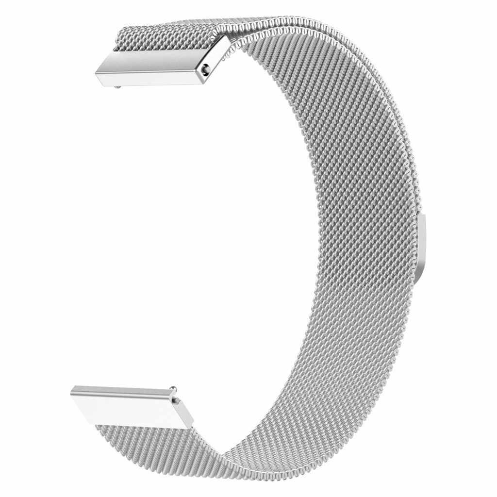 מגנטי לולאה יד רצועת מתכת צמיד עבור AMAZFIT GTR smart watch 47mm smart watch אביזרי נירוסטה רצועת שעון