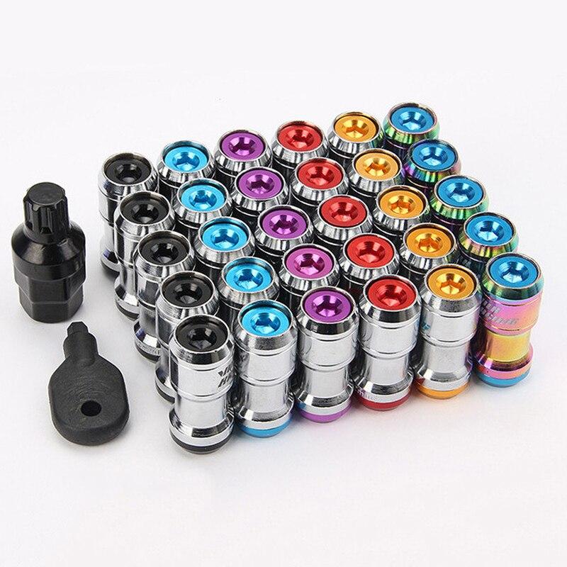 20PCS Steel Wheels Lock Lug Nuts M12x1.5 / M12x1.25 With Spikes Racing Sports Wheel Lug Nuts Anti Theft
