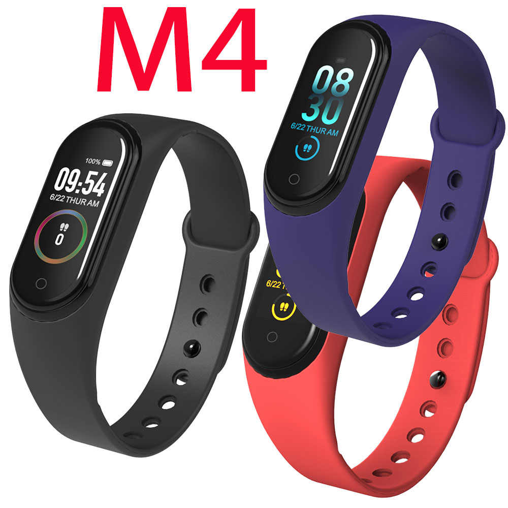2Pc/lot M4 Wristband Smartband Sport Bracelet Watch Heart Rate Monitor Fitness Tracker Activity Blood Pressure Android Ios Sport