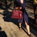 Saco de Ombro das mulheres 100% Sacos de Couro Genuíno Bolsa Preta Senhora Tote Ocasional Bolsa Feminina Designer de Senhoras Ombro Sacos Do Mensageiro