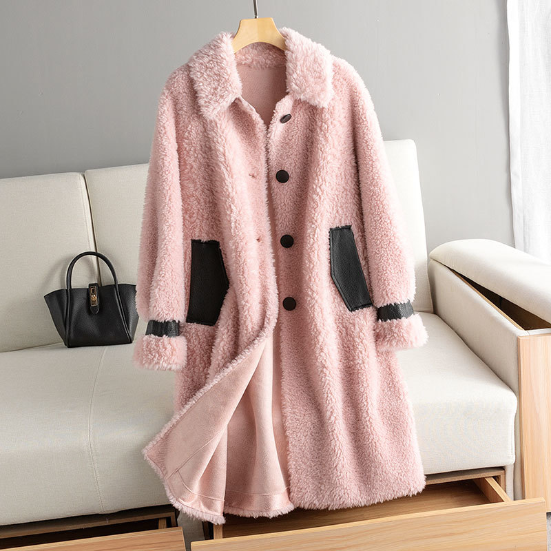 Real Fur Coat 100% Wool Jacket Autumn Winter Coat Women Clothes 2020 Korean Vintage Sheep Shearling Tops Suede Lining ZT3897